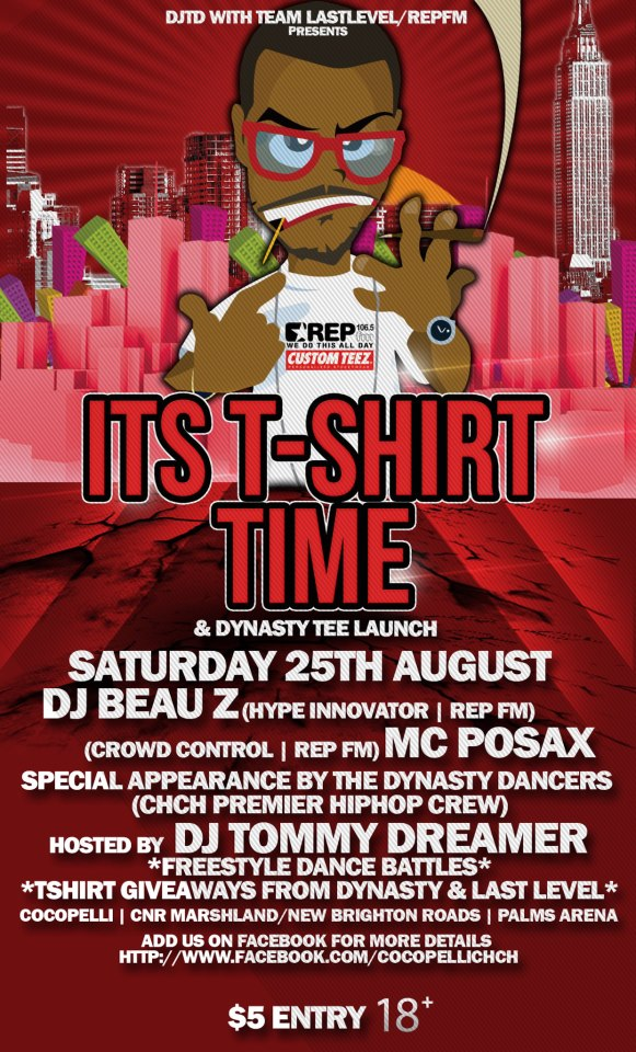 T-Shirt Time 25th August.!! Shake City