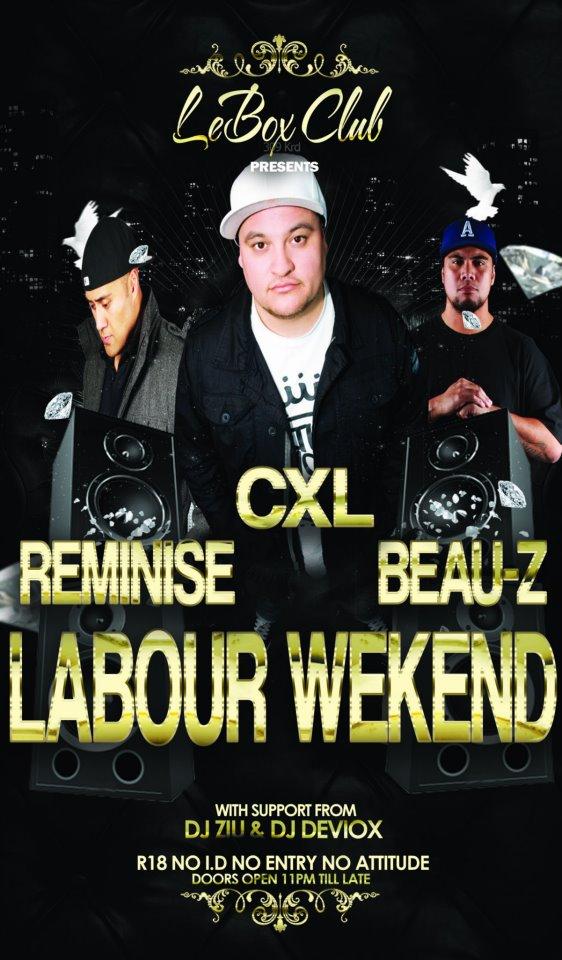 Le Box: Labour Weekend Special Ft Djs Reminise/CXL/Beauz