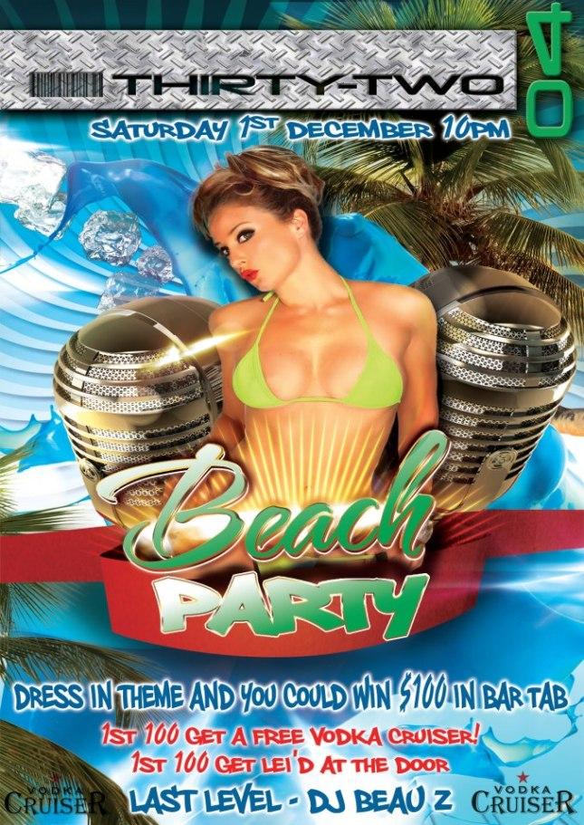 BEACH PARTY @ THIRTYTWO04 FT DJBEAUZ